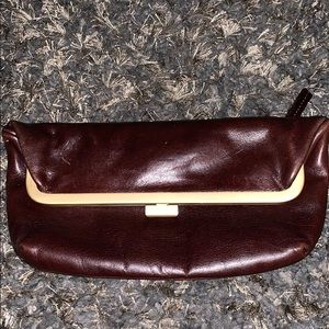 Latico Genuine Leather Flap-Over Clutch